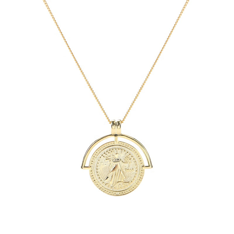 ROMAN ARC MEDALLION COIN NECKLACE