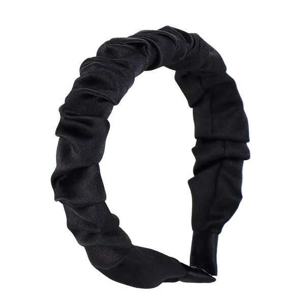 SATIN RUCHED SCRUNCHIE HEADBAND