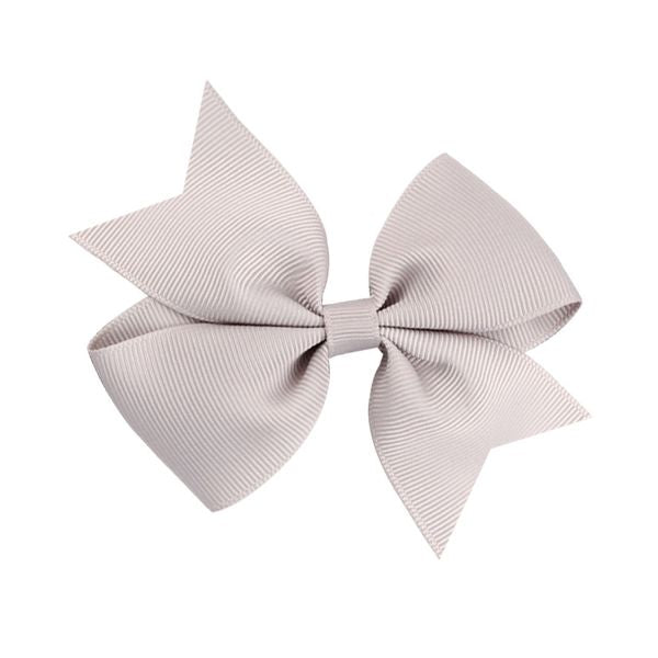 PALE GREY GROSSGRAIN BOW