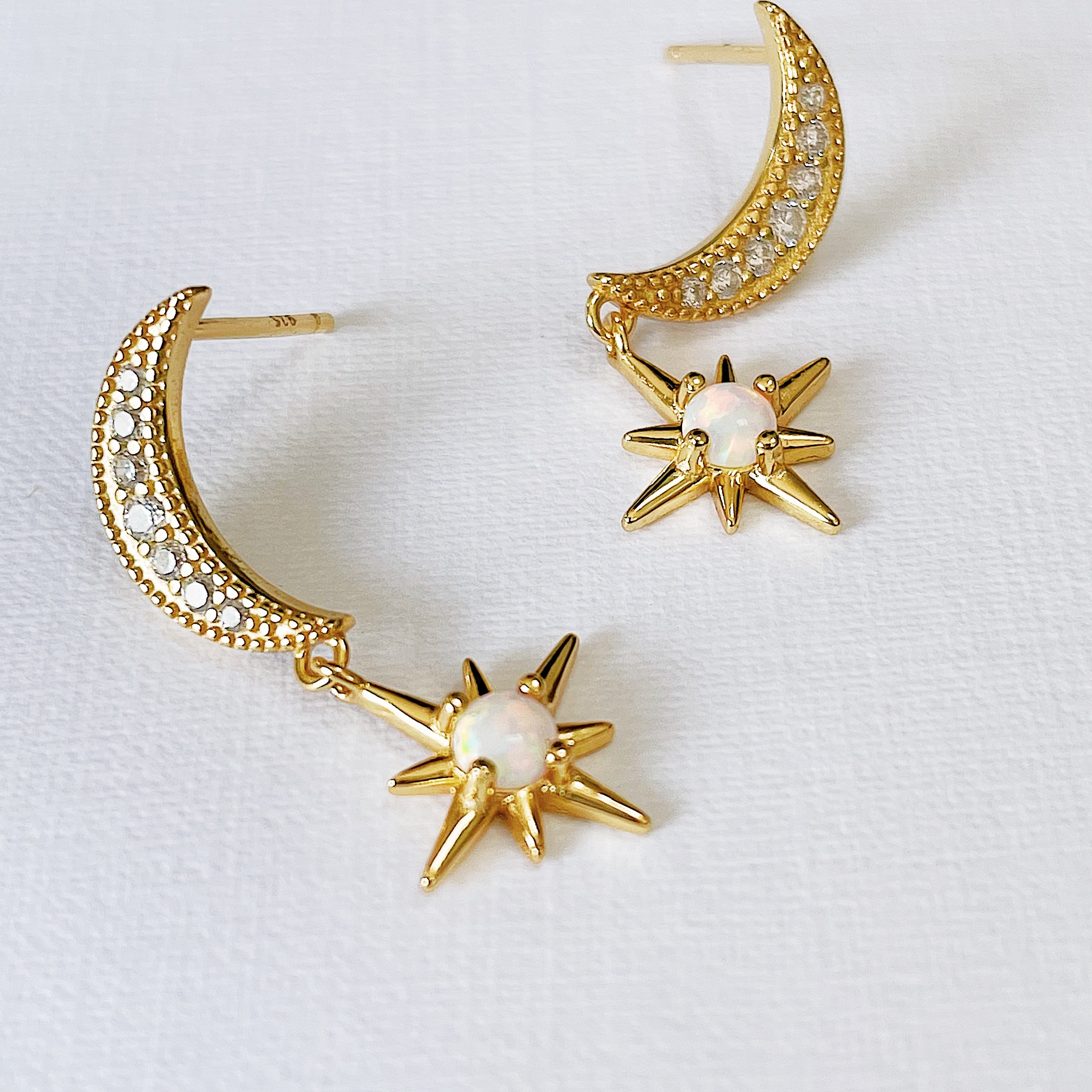 HALF MOON LUNA DROP EARRINGS