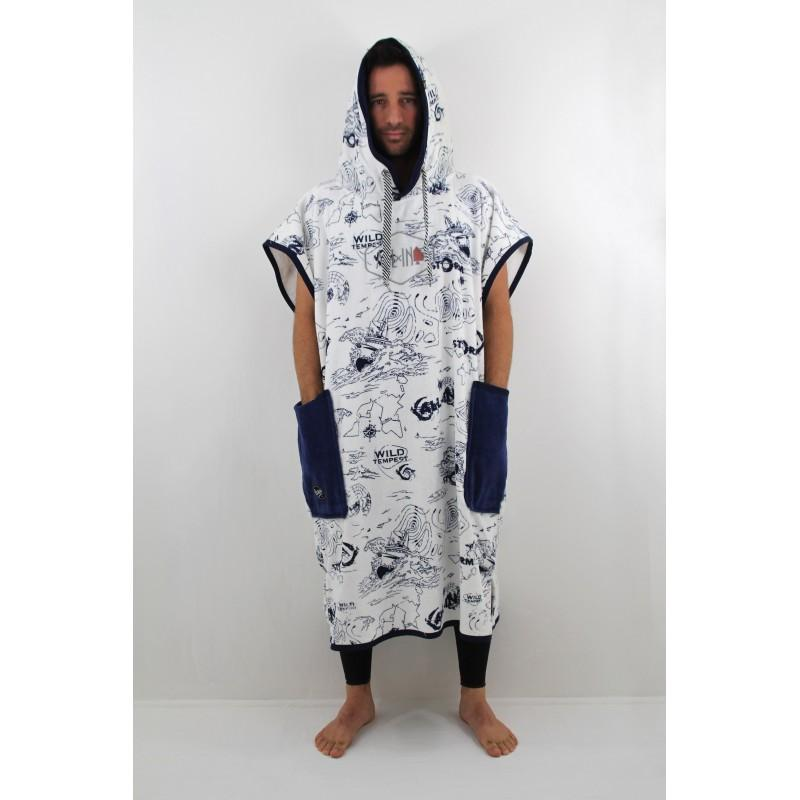 V Poncho Bumpy Storn Navy - ALL IN