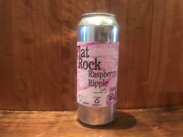 Flat Rock Raspberry Ripple 500ml Can 5.2% ABV
