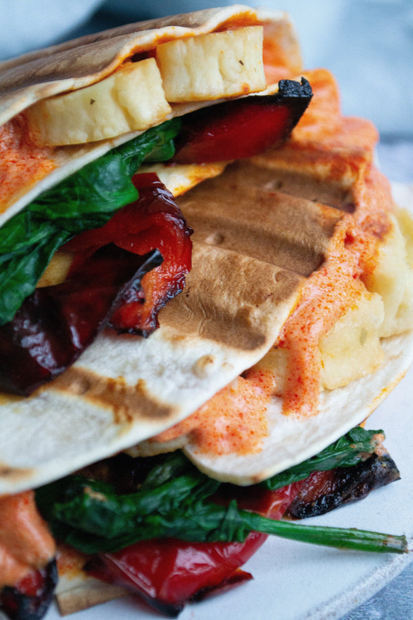 Harissa and Halloumi Four Way Wrap