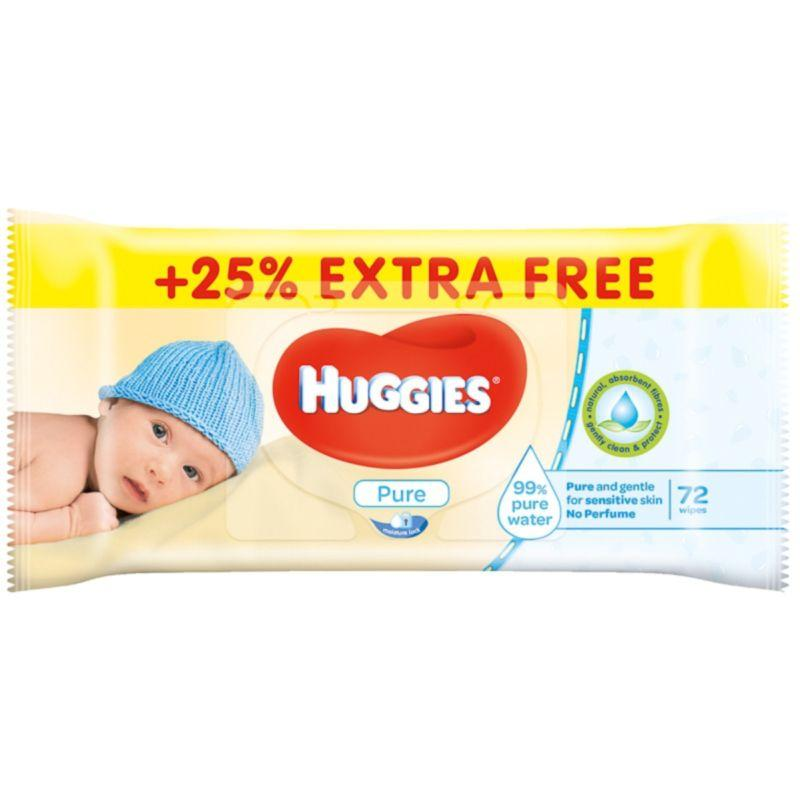 Huggies - Pure Baby Wipes (72s)