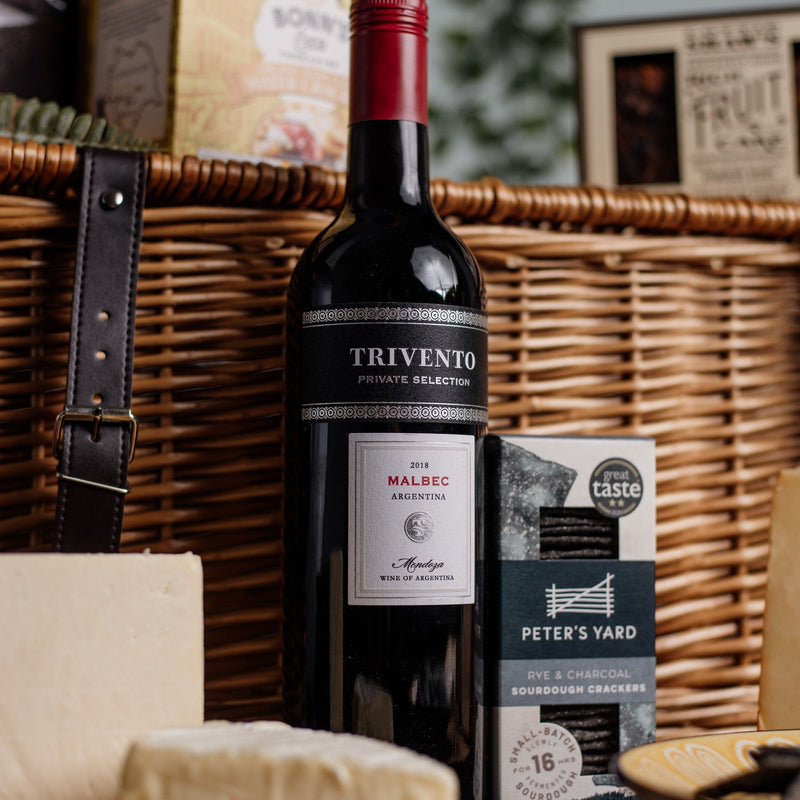 Hampers - Cheese & Biscuits with Wine Hamper