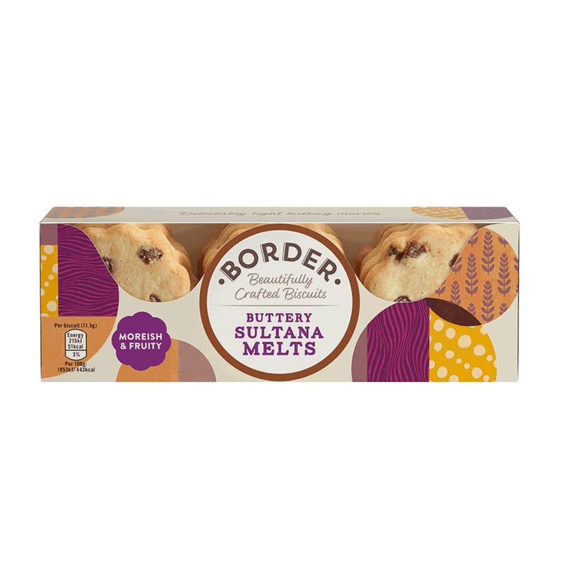 Border Biscuits - Border Biscuits Buttery Sultana Melts (135g)