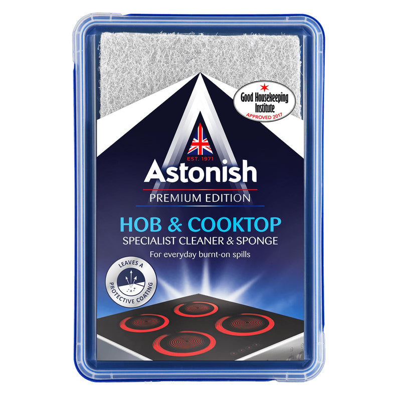 Astonish - Specialist Hob & Cooktop Cleaner and Sponge (250g)