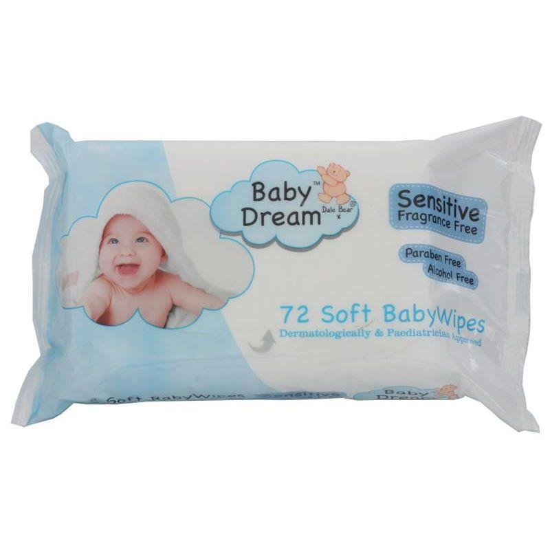 Babydream - Sensitive Baby Wipes (72s)