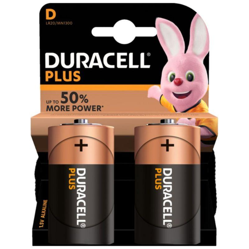 Duracell - D Batteries (2 Pack)