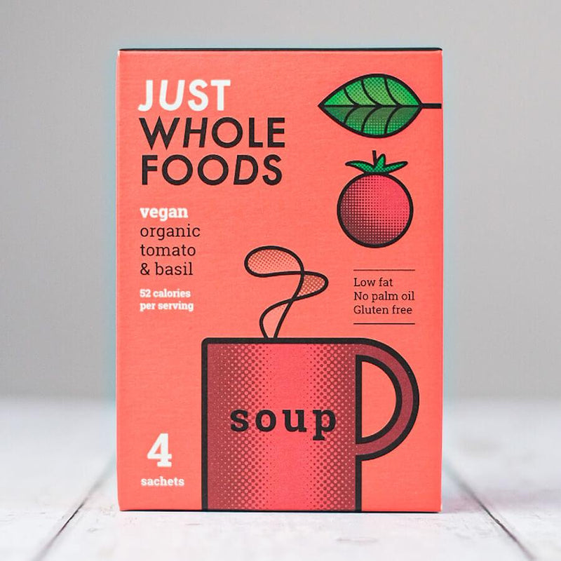 Arrow Fresh - Organic Tomato & Basil Vegan Soup (4 Sachets)