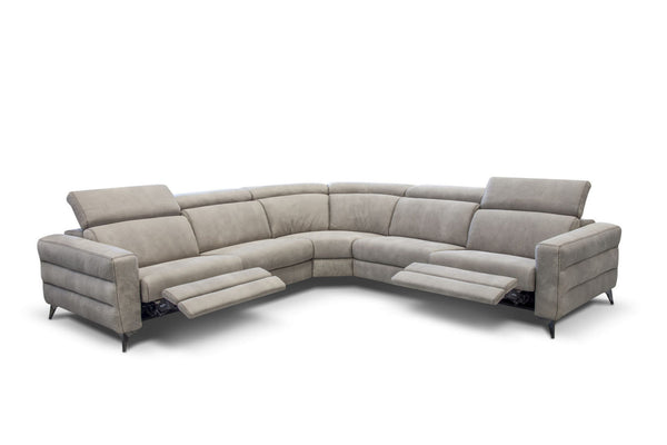ERMES LEATHER MOTORIZED SECTIONAL