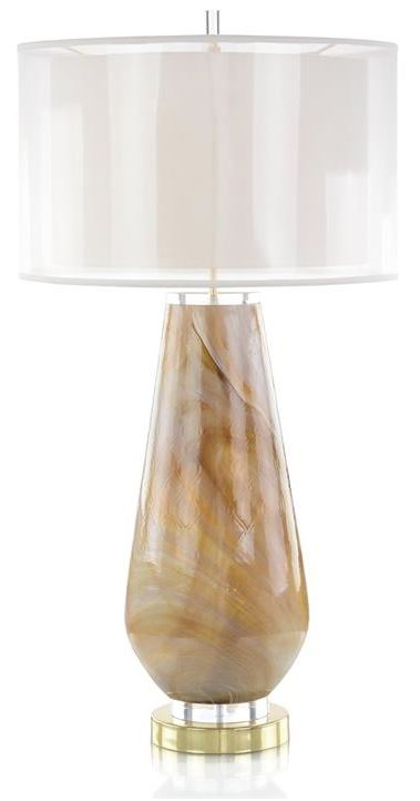 CARAMEL MARBLE TABLE LAMP