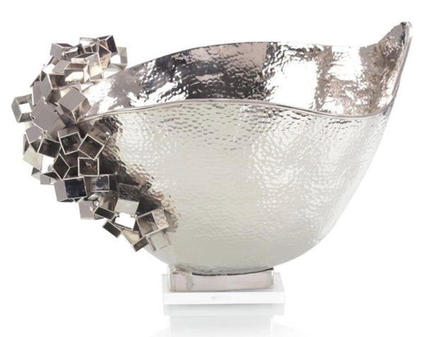 HANDCRAFTED HAMMERED SILVER BOWL
