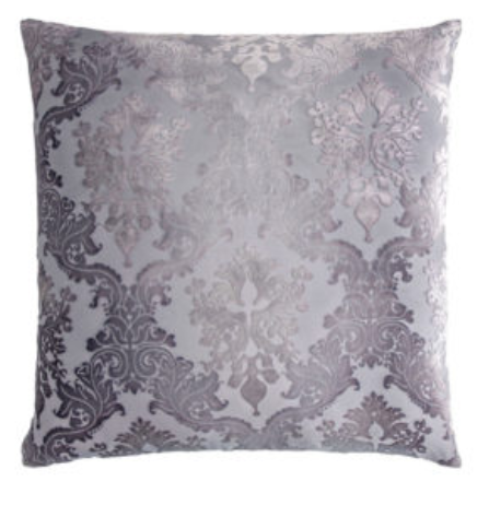 BROCADE VELVET SILVER PILLOW