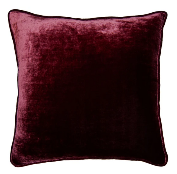 BURGUNDY VELVET PILLOW