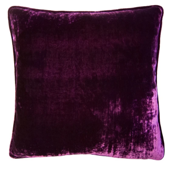 AUBERGINE VELVET PILLOW