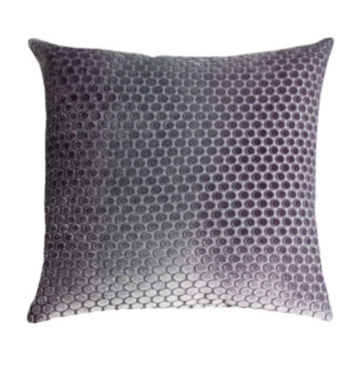 DOTS VELVET AUBERGINE PILLOW