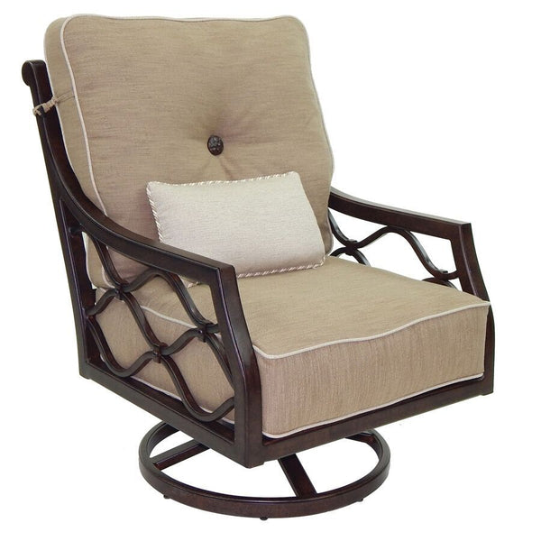 VILLA BIANCA HIGH BACK CUSHIONED LOUNGE SWIVEL ROCKER