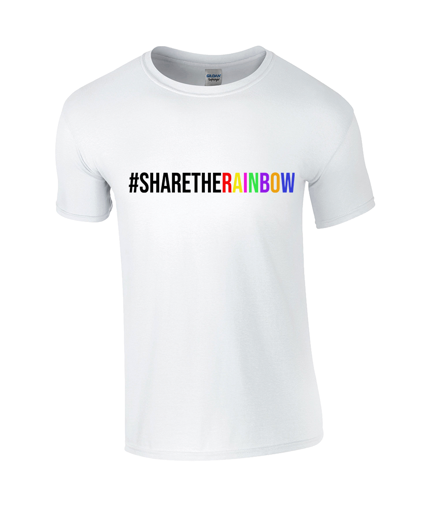 #ShareTheRainbow Children's Classic White T-Shirt - TeeJunkie - T-Shirts for Good Causes