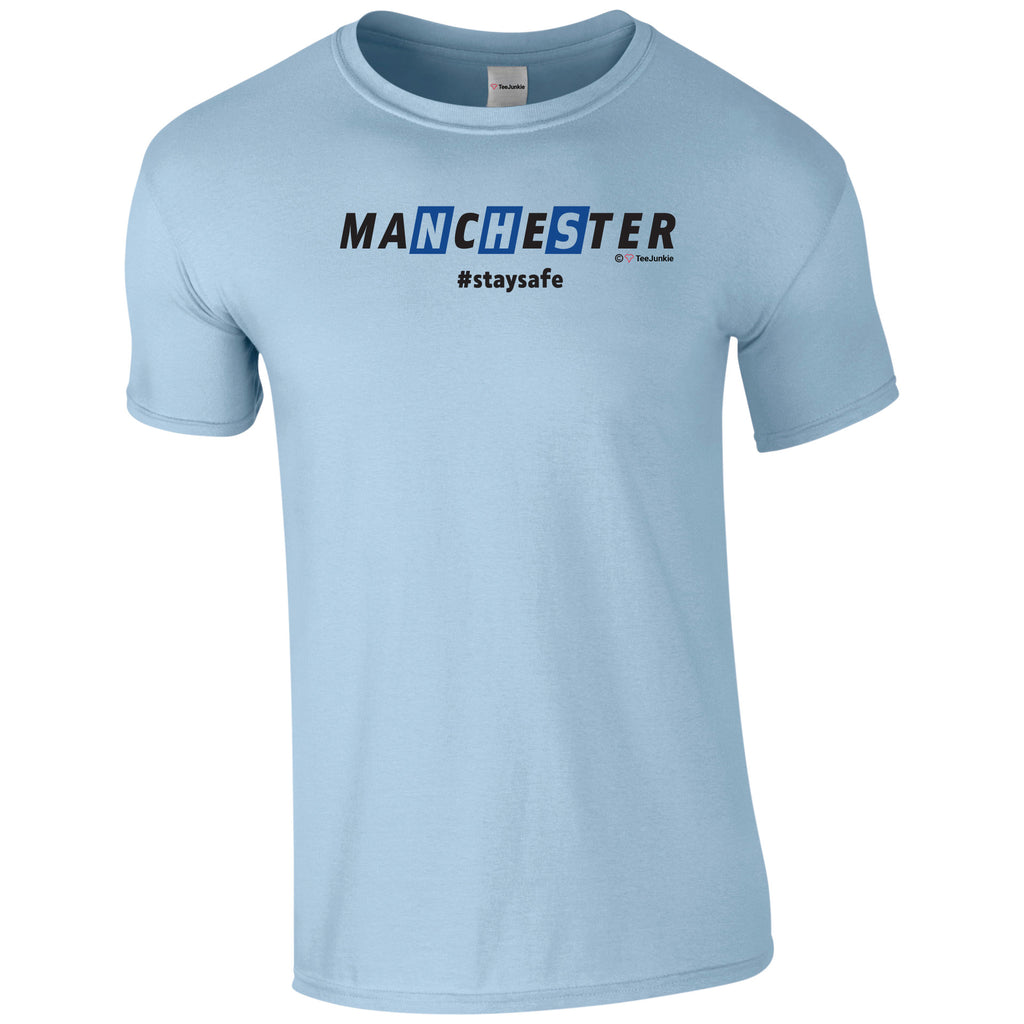Manchester NHS - City vs United - Choose your colour! - TeeJunkie - T-Shirts for Good Causes