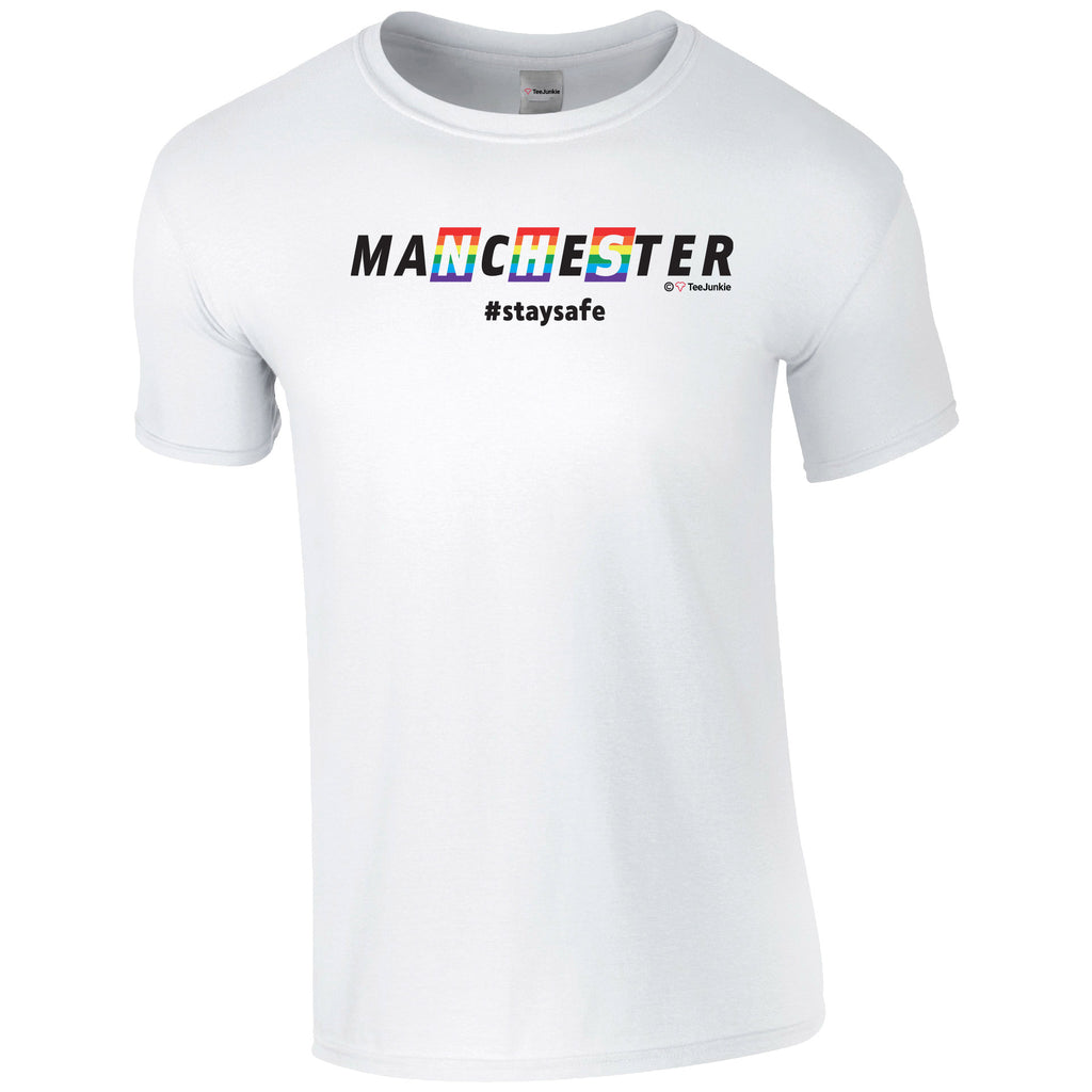 Manchester NHS Rainbow Classic T-Shirt - TeeJunkie - T-Shirts for Good Causes