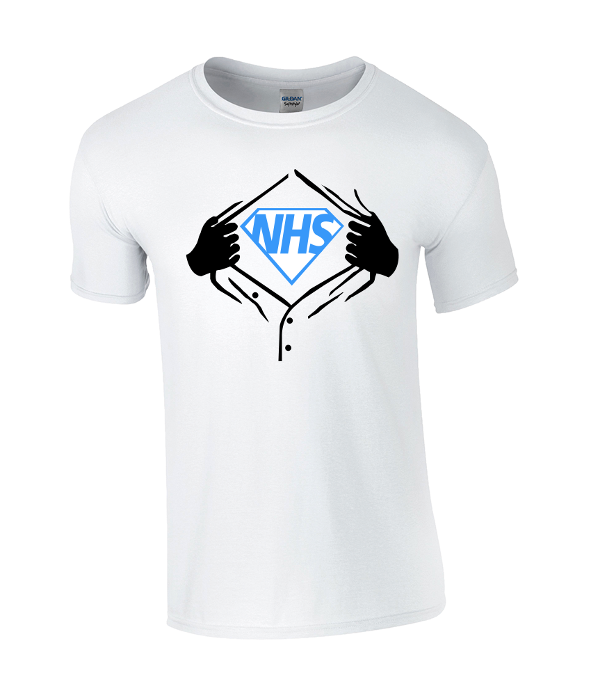 Blue NHS Superhero Classic T-Shirt - TeeJunkie - T-Shirts for Good Causes