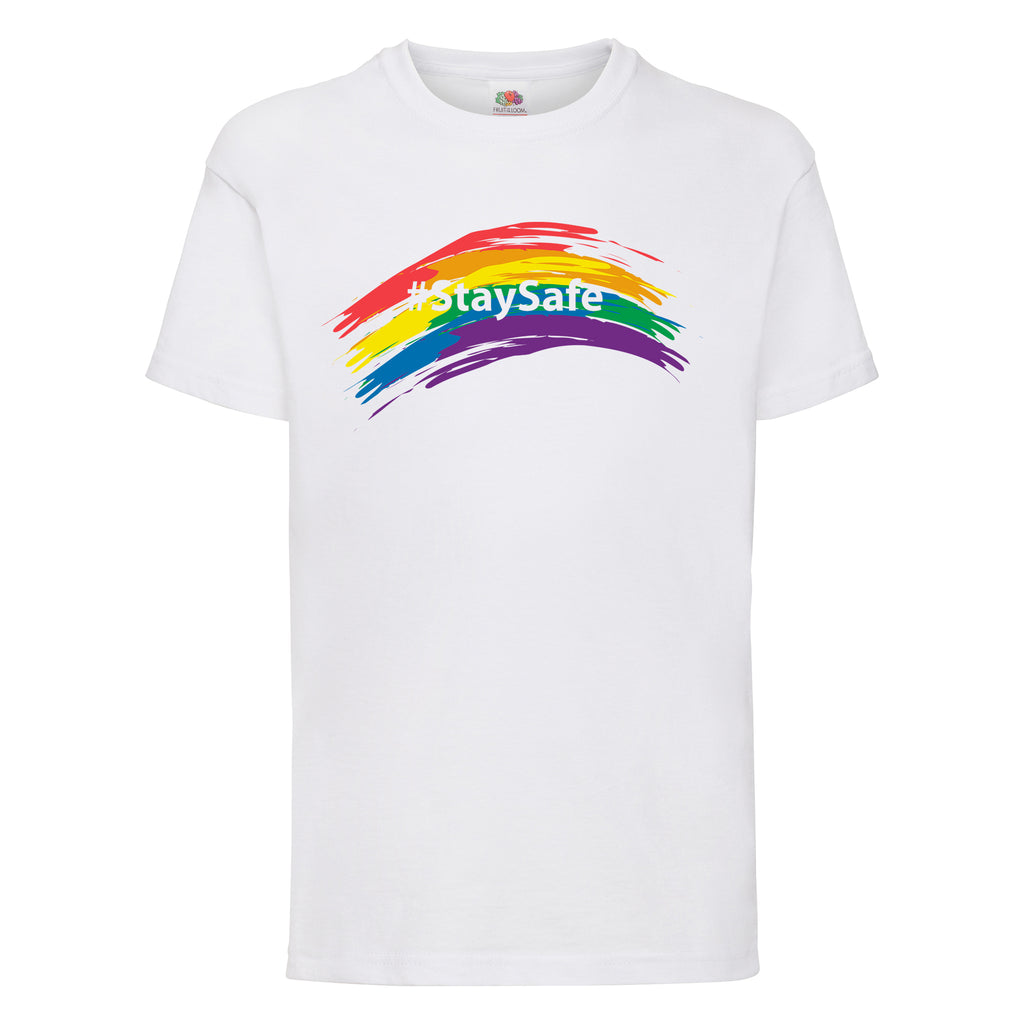 #StaySafe Rainbow Toddler T-Shirt - TeeJunkie - T-Shirts for Good Causes