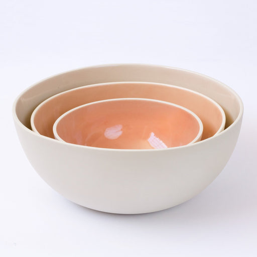 Ombre Blush Nesting Bowls