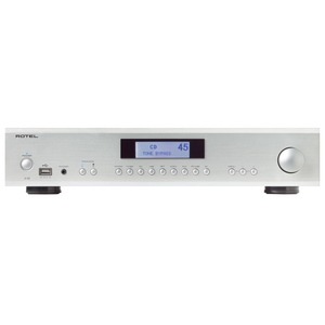 Rotel A12 integrated amplifier with Bluetooth, USB and phono input silver