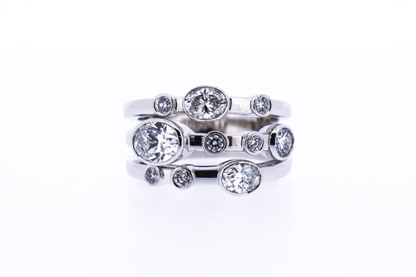 Remodel oval diamond ring