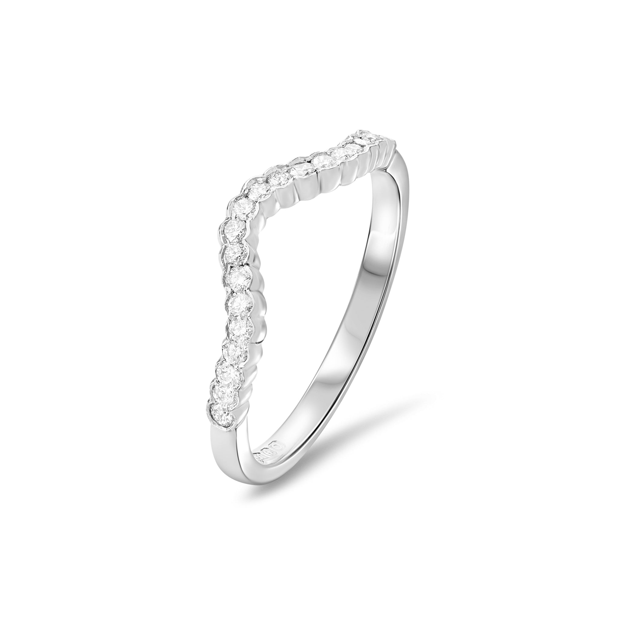 Fitted Diamond Rub-over Set Eternity Wedding Ring