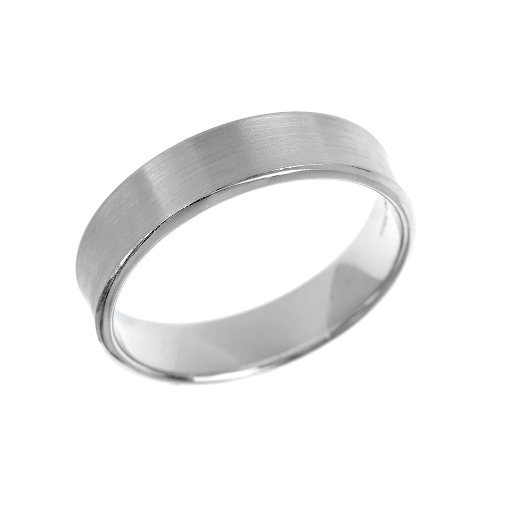 Concave Profile Mens Wedding Ring 5mm