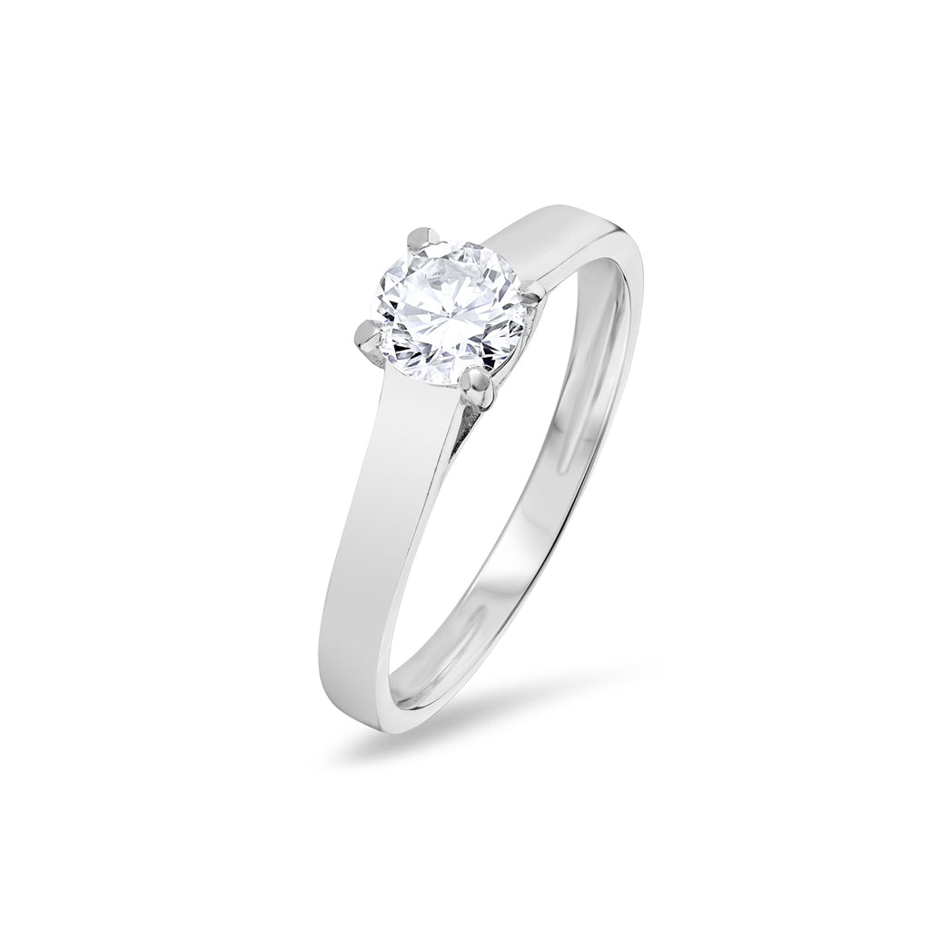 Round Brilliant Claw Set Solitaire Engagement Ring