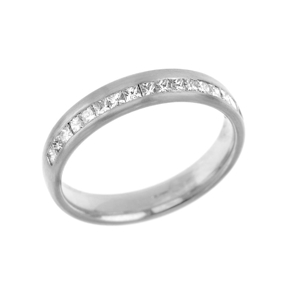 Channel Set Princess Cut Diamond Eternity Wedding Ring