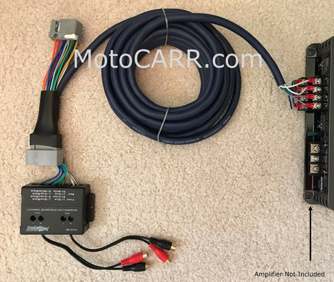 Honda Acura 08+ Factory Radio Add A 4 Channel Amplifier Plug & Play Wire Harness