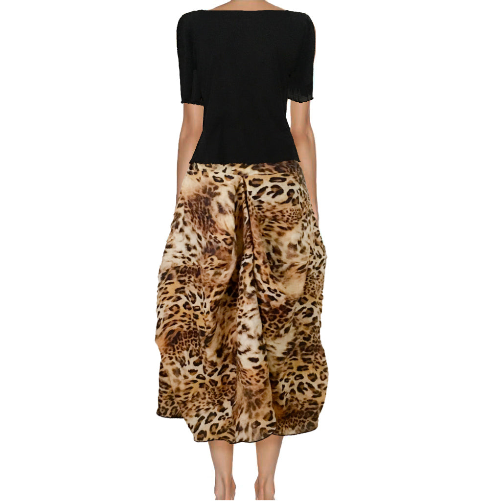 RAY SKIRT - LEOPARD