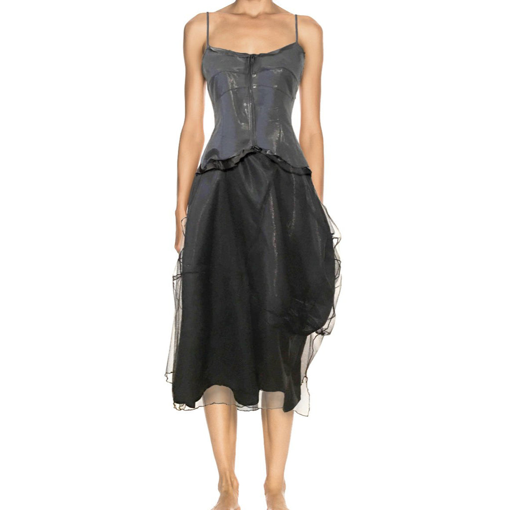 BELLE DRESS - IRIDESCENT BLACK