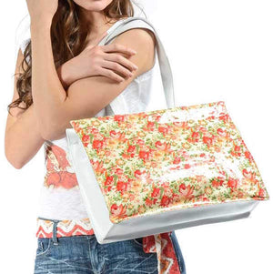 THE FLOWERY LEATHER TOTE