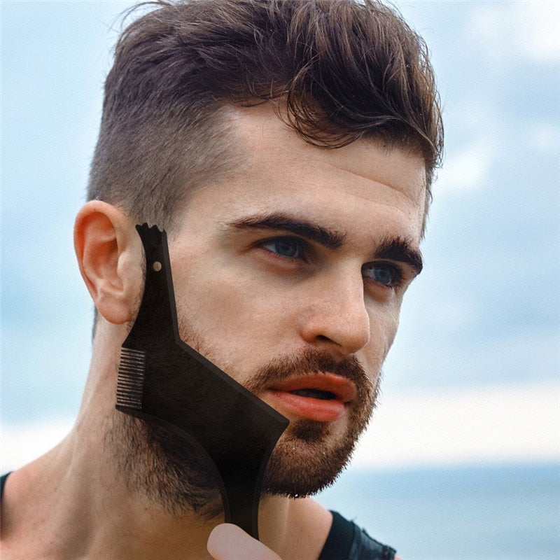 Double-side Beard Shaping Styling Template