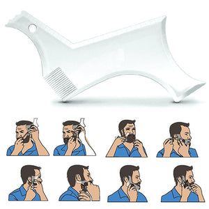 Double-side Beard Shaping Styling Template-1