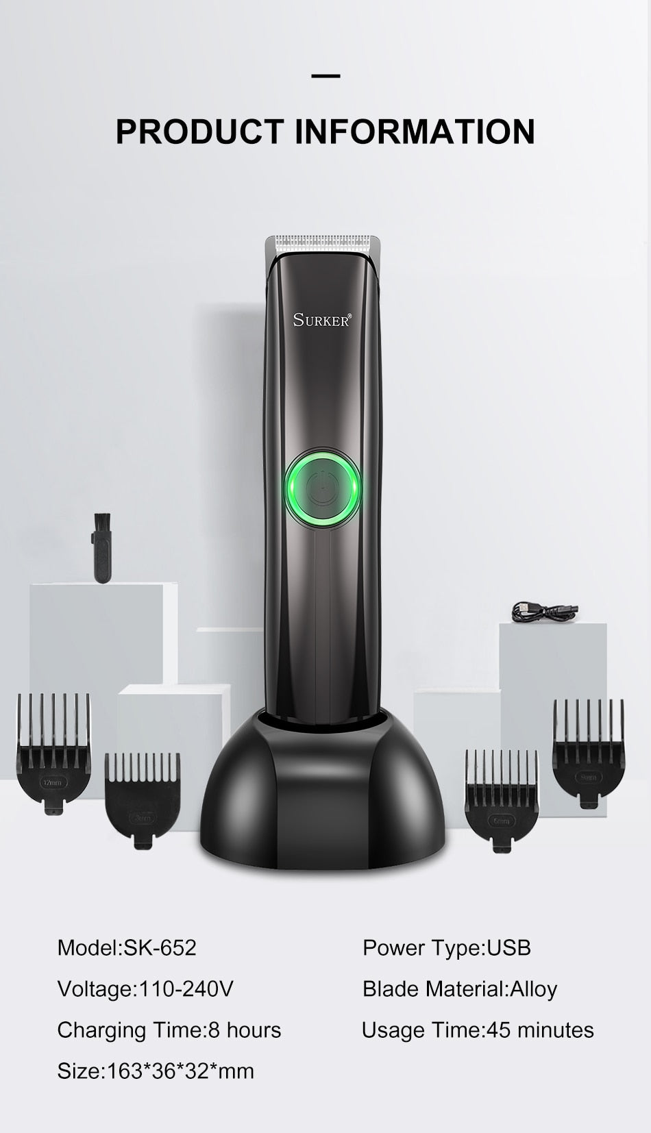Men Electric Hair Trimmer-1