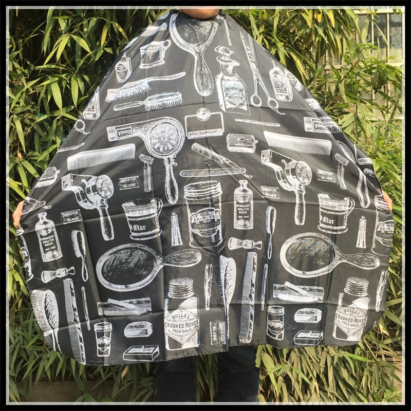 Black White Beard Apron Hair Shave Apron