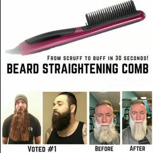 Men's Quick Beard Brush Straightener
