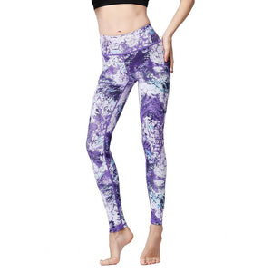 High Waist Printed Quick Dry Stretch Leggings