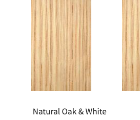 Natural Oak and White