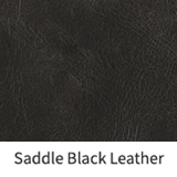 Saddle Black Leather