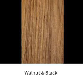 Walnut & Black