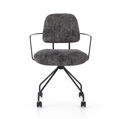 RADCLIFFE DESK CHAIR-CAMARGUE CHARCOAL | NEW