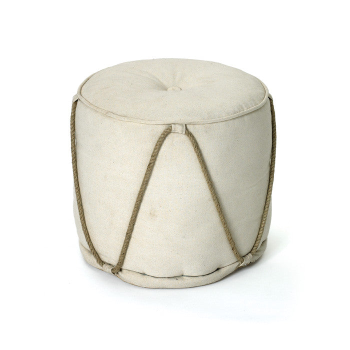 Off White Pouf