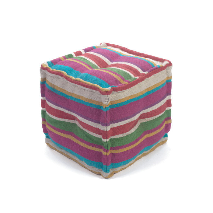 Striped Pouf